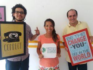 Domingos Max e Álvaro Lagos fizeram parte da equipe de voluntários