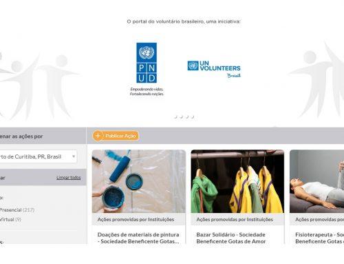 Plataforma criada em parceria com o PNUD conecta instituições e voluntários
