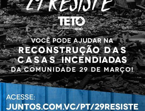 Campanha vai arrecadar fundos para reconstruir casas na comunidade 29 de Março