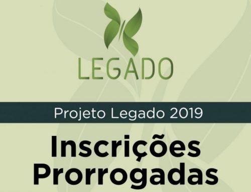 Inscrições do Projeto Legado 2019 são prorrogadas para 17 de fevereiro